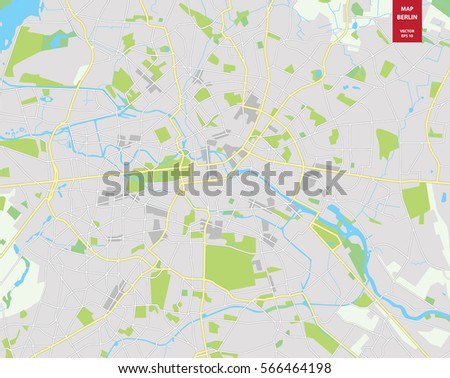 Map Of Germany To Color.Vector Color Map Berlin Germany City Stock Vector Royalty Free