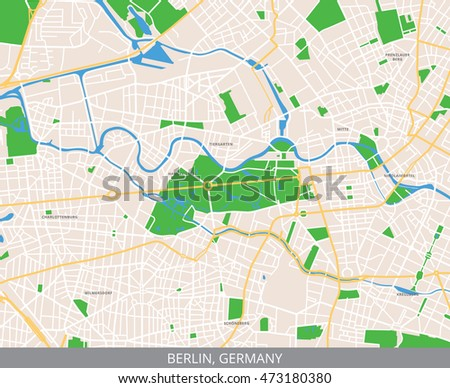 Central Germany Map.Vector Color Map Central Berlin Capital Stock Vector Royalty Free