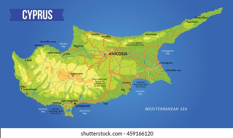 Map Of Cyprus Images, Stock Photos & Vectors | Shutterstock