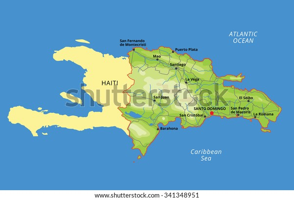 Vector Color Map Dominican Republic Capital Stock ...
