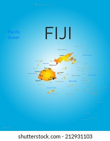 Vector color map of Fiji