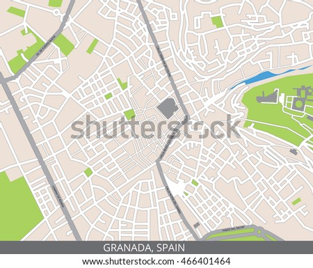 Map Of Spain To Color.Vector Color Map Granada Spain All Stock Vector Royalty Free