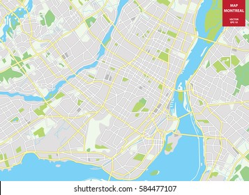 Montreal Map Images Stock Photos Vectors Shutterstock