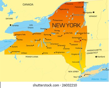 New York State Map Images, Stock Photos & Vectors | Shutterstock