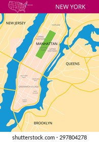 Brooklyn Queens Map Images, Stock Photos & Vectors | Shutterstock on