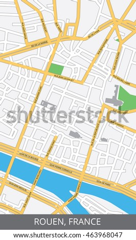 Vector Color Map Rouen France All Stock Vector (Royalty Free ...