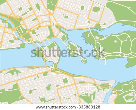 on map of stockholm