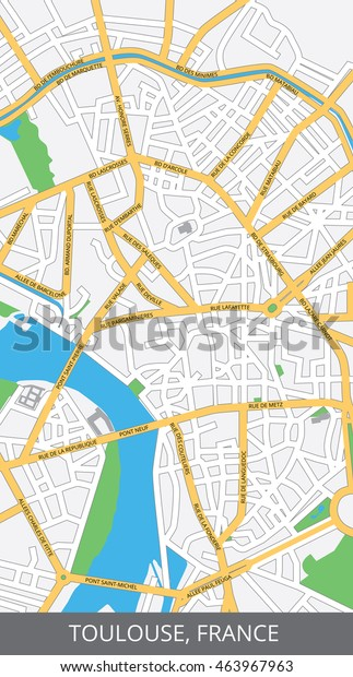 Map Of France Toulouse.Vector Color Map Toulouse France All Stock Vector Royalty Free