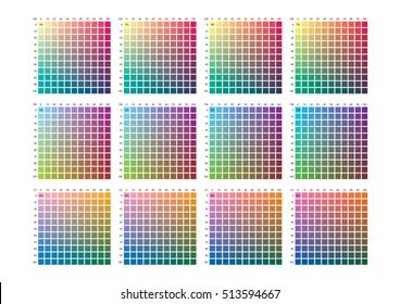 Vector color palette on A3 format, paper size 420 x 297 mm