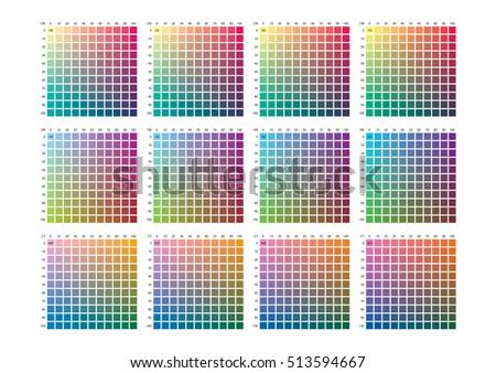 Vector color palette on