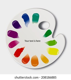 Vector of color palette with color wheel