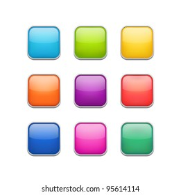 Vector color rounded rectangle