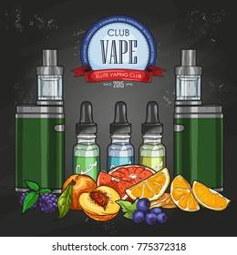 Vector color sketch vaporizer cigarette