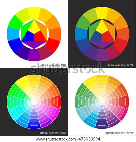 vector color spectrum wheel concentric sectors stock vector royalty rh shutterstock com