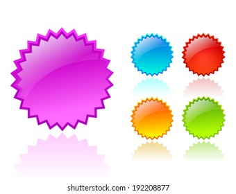 Vector color stars