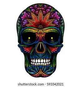 Ilustraciones Imágenes Y Vectores De Stock Sobre Calaveras Color