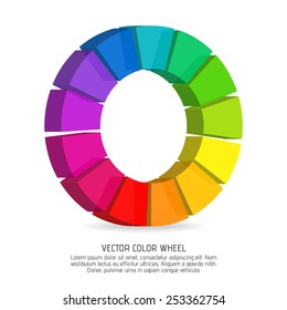 Vector color wheel with dimensional effect