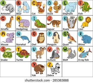 Animal Alphabet Images, Stock Photos & Vectors | Shutterstock