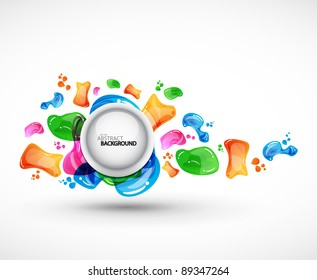 Vector colorful abstract background. Bubbles in the air