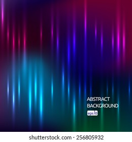 Vector colorful abstract background with shiny strips