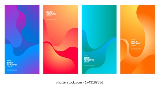 Vector colorful abstract fluid gradient pattern background