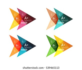 Vector colorful arrow option infographics templates set for workflow layout, diagram, number options or web design