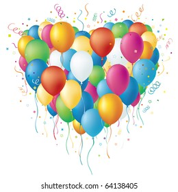 vector colorful balloon,celebration disign element
