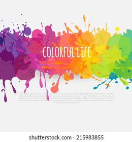 vector colorful banner made of bright stains