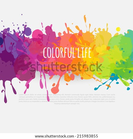 vector colorful banner made bright stains stock vector royalty free