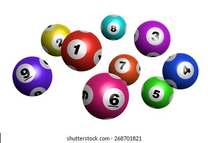 Vector Colorful Bingo / Lottery Number Balls