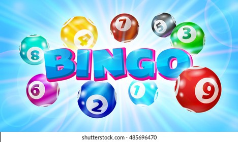 Vector Colorful Bingo. Lottery Number Balls. Bingo ball. Bingo balls with numbers. Lotto concept.