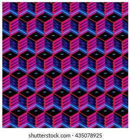 Vector colorful blocks pattern design background. Vibrant and gradient colors for design background and materials