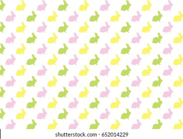 vector colorful bunny silhouettes pattern