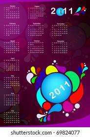 vector colorful calendar 2011 year