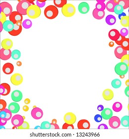 Vector Colorful Circles Border