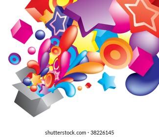 Vector. Colorful composition. For similar artworks visit my portfolio
