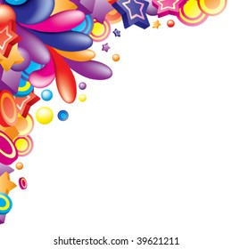 Vector. Colorful corner for your design. All elements are separated. Visit my portfolio for similar images.