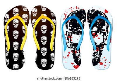 78a2fe6892ea2 Vector Colorful Flip Flops Tattoo Lizards Stock Vector (Royalty Free ...