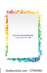 Vector colorful frame