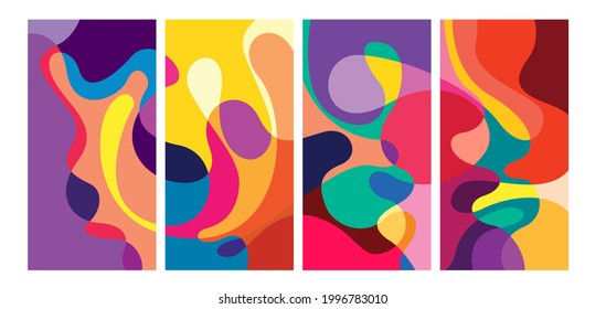 Vector colorful geometric liquid abstract background pattern for social media template