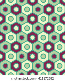 Vector colorful geometry hexagon pattern.  creative art deco. hipster fashion print