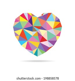Vector Colorful Heart