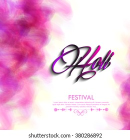 Vector colorful illustration or greeting design for Indian festival of colors, Holi