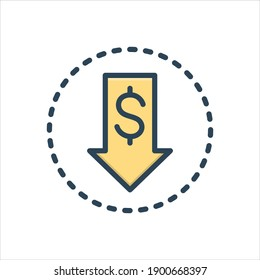 Vector colorful illustration icon for  cheaper