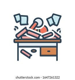 Vector colorful illustration icon for disorganized