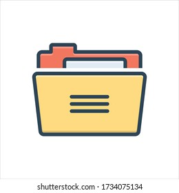 Vector colorful illustration icon for folder