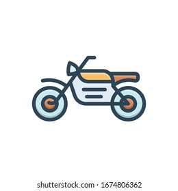 vector colorful illustration icon for motorcycle