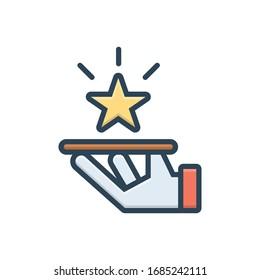 Vector colorful illustration icon for premium service