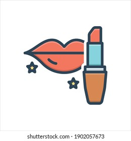 Vector colorful illustration icon for  rouge