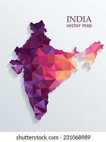 Vector Colorful India Map